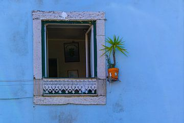 Raam in blauw van Denis Feiner