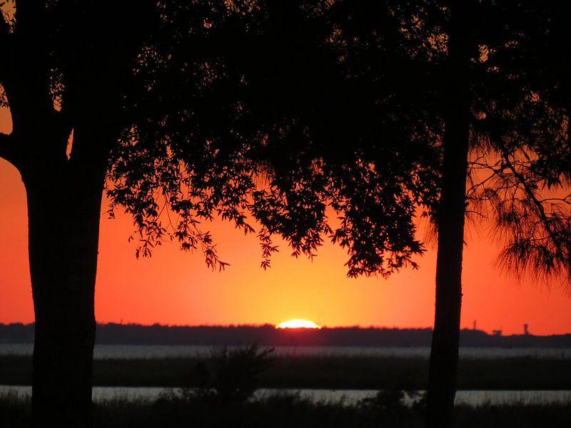 Sunset Houston Texas van Femke Vergeer