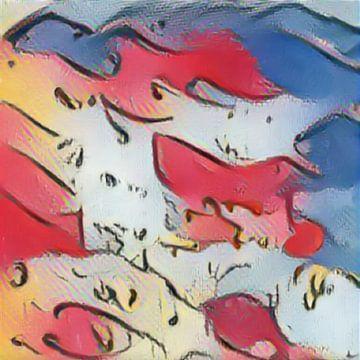 Abstrakte Inspiration XXII von Maurice Dawson