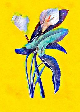 Blumen im Zeichenstil 5 von Ariadna de Raadt