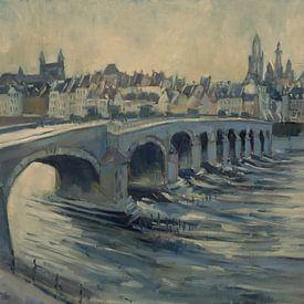 Die mooie Oude Brug van Maastricht van Nop Briex