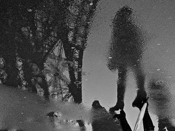Reflectie in de regen von Emil Golshani