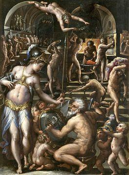 Die Schmiede des Vulkan, Giorgio Vasari, 1564 von Atelier Liesjes