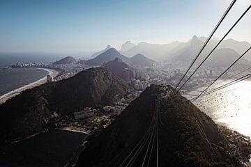 Brésil, Rio de Janeiro, Botafogo, Copacabana de Sugarloaf Mountain sur Tjeerd Kruse