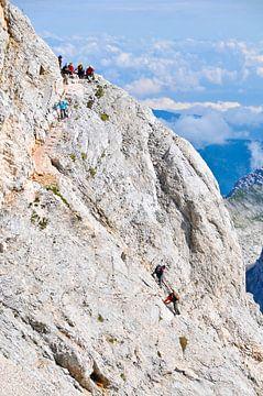 Bergsteiger auf Triglav, dem höchsten Gipfel in Slowenien von Lars-Olof Nilsson
