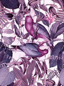 Parakeets In Tropical Paradise van Andrea Haase