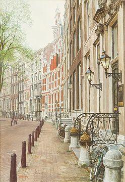 Schilderij: Amsterdam, Herengracht sur Igor Shterenberg