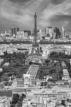 Paris Skyline | Monochrome sur Melanie Viola