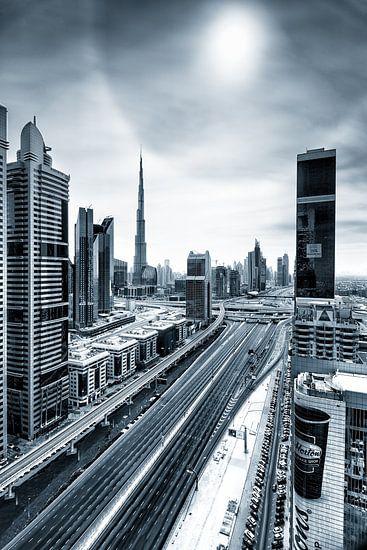 Empty streets of Dubai