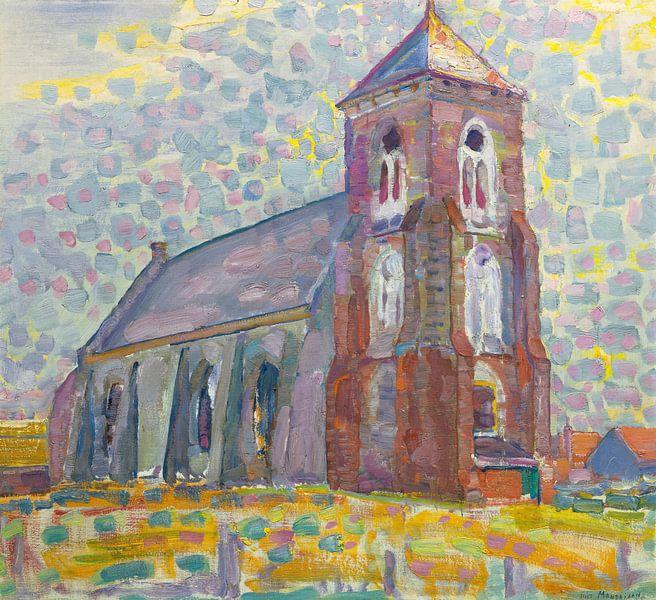 Kirche in Zoutelande, Piet Mondrian von Meesterlijcke Meesters