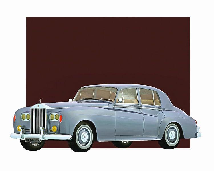 Klassieke auto – Oldtimer Rolls Royce Silver cloud III 1963 van Jan Keteleer