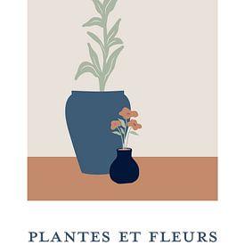 Plantes et Fleurs - Stilleven van planten in bloempotten van MDRN HOME
