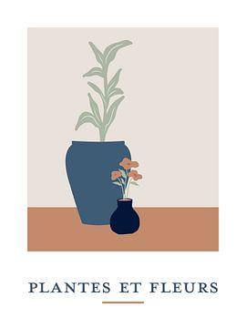Plantes et Fleurs - Nature morte de plantes dans des pots de fleurs