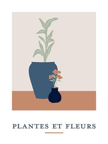 Plantes et Fleurs - Stilleven van planten in bloempotten