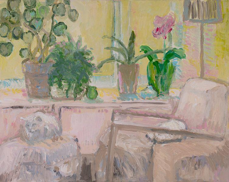 Pastel katten van Tanja Koelemij