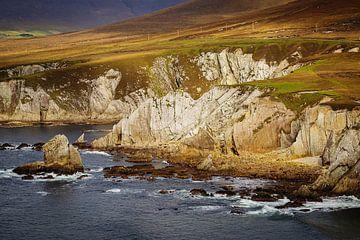 Ierland - Mayo - Achill Island - White Cliffs van Meleah Fotografie