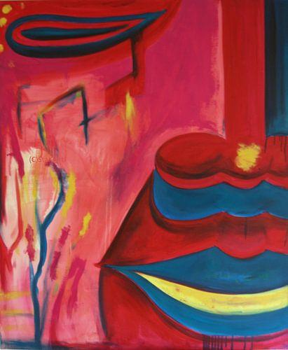 Modern Buddha Red by Michael Ladenthin