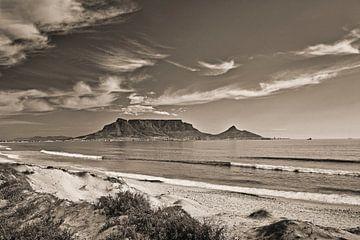 Tafelberg bij Kaapstad, Zuid-Afrika van Frans Lemmens