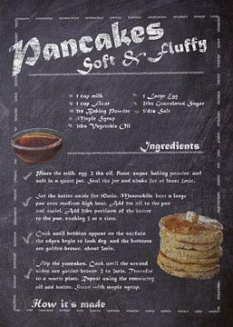 Recipe Dessert - Pancakes van JayJay Artworks