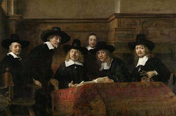 Die Vorsteher der Tuchmacherzunft (Staalmeesters) von Rembrandt