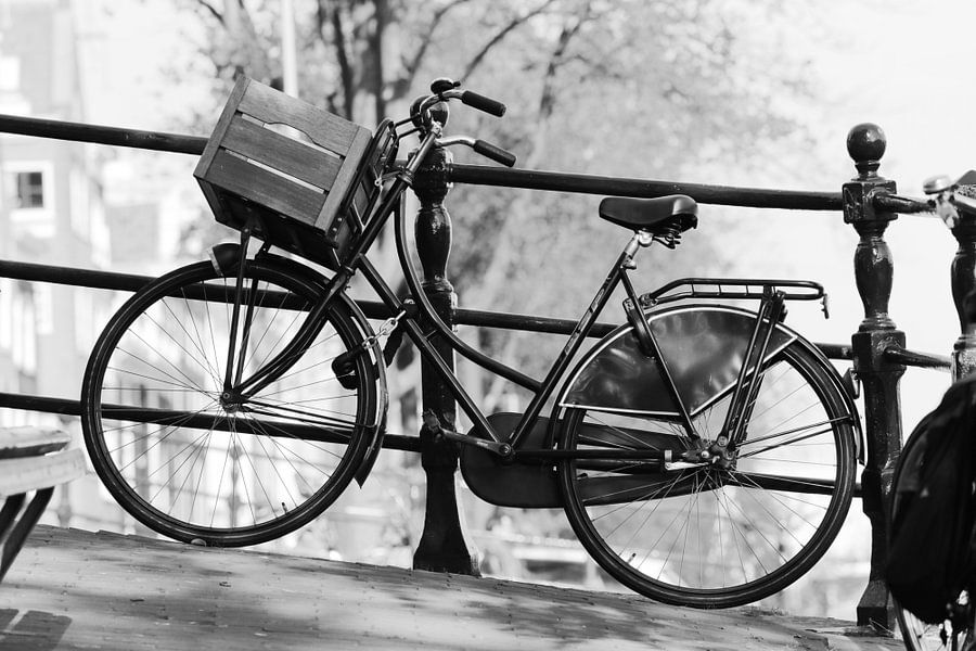 Fiets Amsterdam zwart-wit