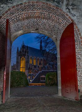 Hooglandse Kerk vanaf de Burcht