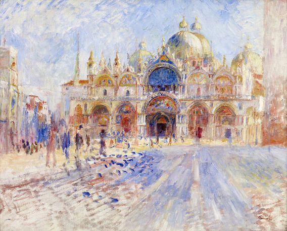 August Renoir. Piazza San Marco, Venetie van 1000 Schilderijen