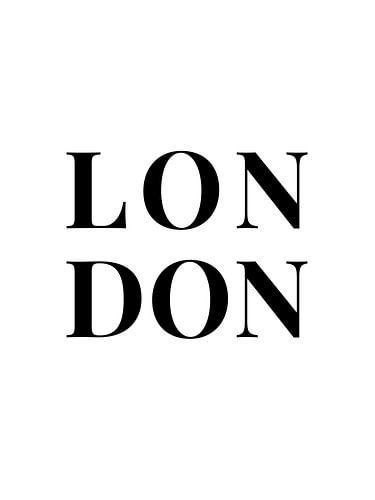 LONDON (in wit/zwart)