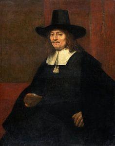 Portret van een man met een hoge hoed