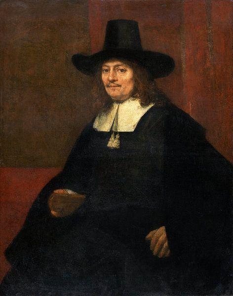 Rembrandt van Rijn, Porträt eines Mannes in einem hohen Hut von Rembrandt van Rijn