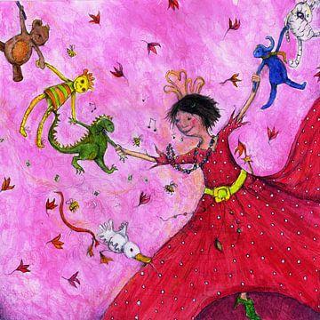Herumtanzen - Noore mit Drachen von keanne van de Kreeke