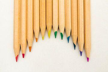 Potloden-regenboog van Bert  Zefat