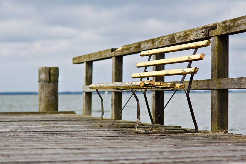 Bench on a pier van Rico Ködder