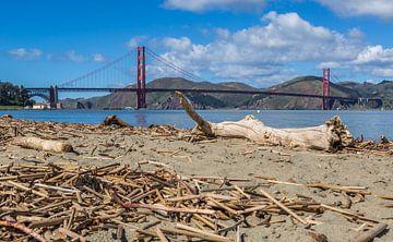 Ikonische Ansicht der Golden Gate Bridge von Peter Leenen