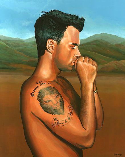 Robbie Williams Schilderij van Paul Meijering