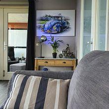 Klantfoto: Volkswagen Beetle  van Ronald De Neve, op canvas