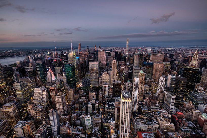 Stadtübersicht vom Empire State Building van Kurt Krause