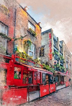 Dublin Aquarellkunst #Dublin von JBJart Justyna Jaszke