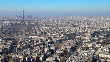 Panorama uitzicht over Parijs en de Eiffeltoren van