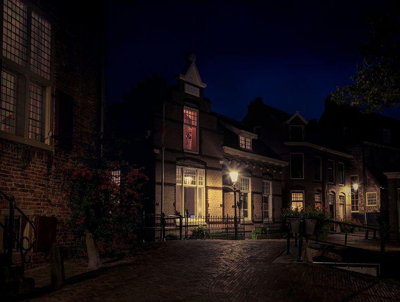 Straatje bij Nacht van Van Renselaar Fotografie