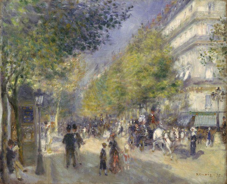 Die Grands Boulevards, Pierre-Auguste Renoir von Meesterlijcke Meesters