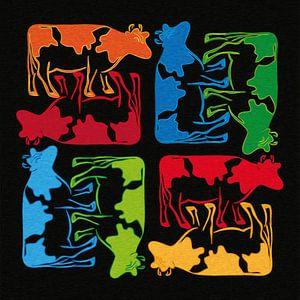Colorful Cows Composition