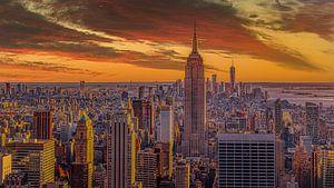 Skyline Manhattan, New York City van Robbert Ladan