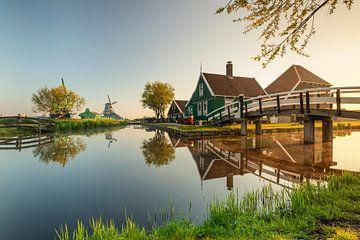 Freilichtmuseum Zaanse Schans bei Sonnenaufgang, Niederlande von Markus Lange