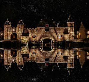 Wasserspiegelung, Koppel-Tor, Amersfoort, Niederlande