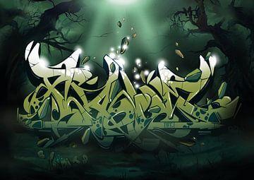 Graffiti van Martin Liebschner