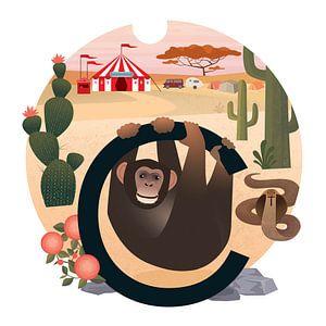C: Chimpansee en het circus van Hannahland .