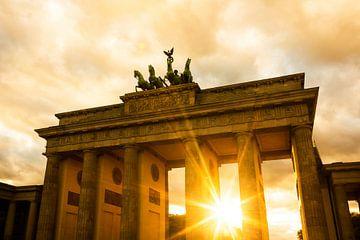 Coucher de soleil à la porte de Brandebourg