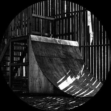 Verlaten skate ramp van Sven Vergeylen
