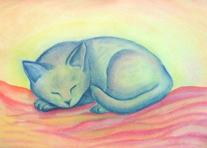 Slapende Kat van Marloes Boer